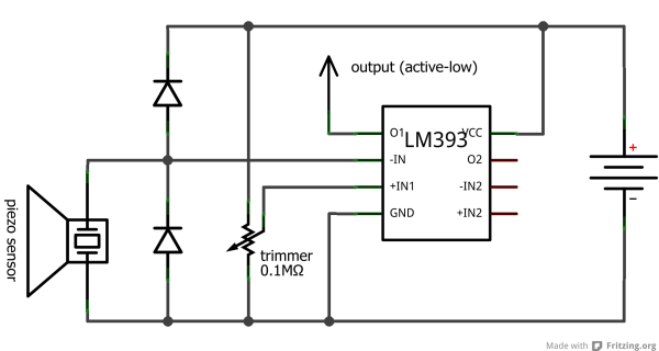 piezoelectric sensor digitizing circuit